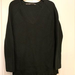 Athleta Green Merino Wool Sweater